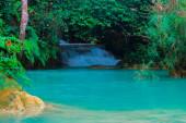 Tat Kuang Si Waterfalls Beautiful landscape in Luang Prabang, Laos