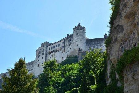 Photo for Salzburg, Austria - View on FESTUNG HOHENSALZBURG fortress in the historical city of Salzburg, Austria - Royalty Free Image