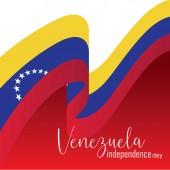 Vector illustration of Happy Venezuela Independence Day