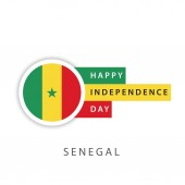 Happy Senegal Independence Day Vector Template Design Illustrator