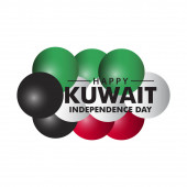 Happy Kuwait Independence Day Vector Template Design Illustration