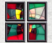 """Постер, картина, фотообои """"3D визуализация слоеного пикселей Галерея"""""""