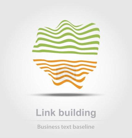 Illustration pour Icône d'entreprise pour la création et de design de bâtiment de lien - image libre de droit