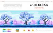 Cartoon Game Design Web Page Template