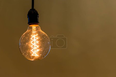 Photo for Vintage ceiling lamp interior lighting bulbs decoration contemporary - Royalty Free Image