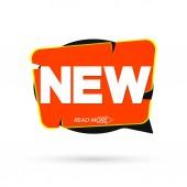 New banner design template speech bubble promo tag vector illustration