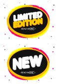 Limited Edition and New banners design template promotion tags vector illustration