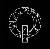 Q geometric triangle block chain font