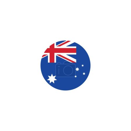 Illustration for Australian flag vector icon illustration design template - Royalty Free Image