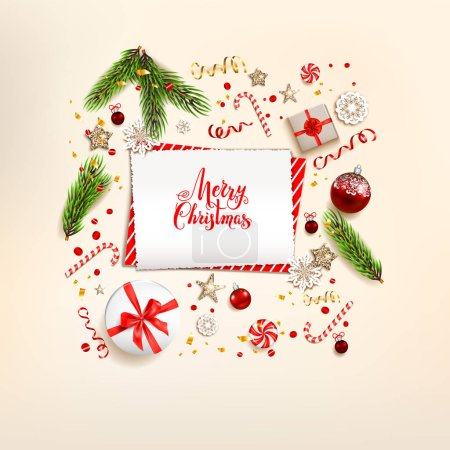 Winter background with gift boxes
