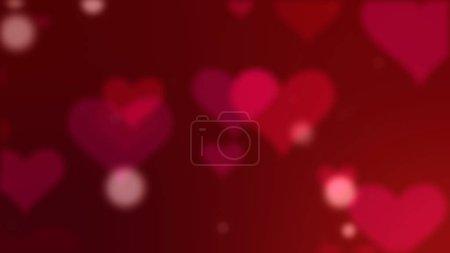 Photo pour Coeurs rouges particules, fond de Saint Valentin - image libre de droit