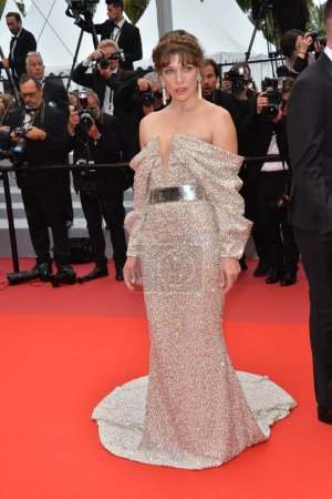 """Photo for CANNES, FRANCE. May 24, 2019: Milla Jovovich at the gala premiere for """"Sybil"""" at the Festival de Cannes - Royalty Free Image"""