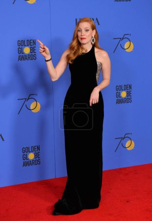 Jessica Chastain at the 75th Annual Golden Globe A...