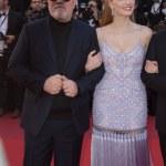 Jessica Chastain & Pedro Almodovar at the premiere...