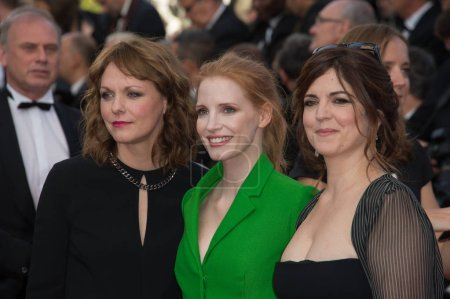 Agnes Jaoui, Jessica Chastain & Maren Ade at the p...