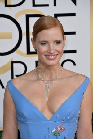 Jessica Chastain at the 74th Golden Globe Awards  ...