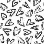 Hand drawn heart background 01