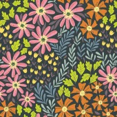 Simple wild flowers pattern 02