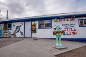 Small cafe and hotel named Little ALeInn in Rachel, Nevada