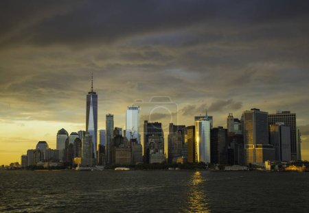 Photo for New York City Manhattan downtown skyline at sunset - Royalty Free Image