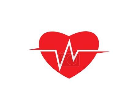 Heart beat line vector ilustratio...