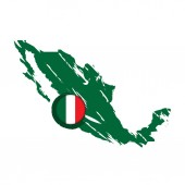 Map of Mexico with a label