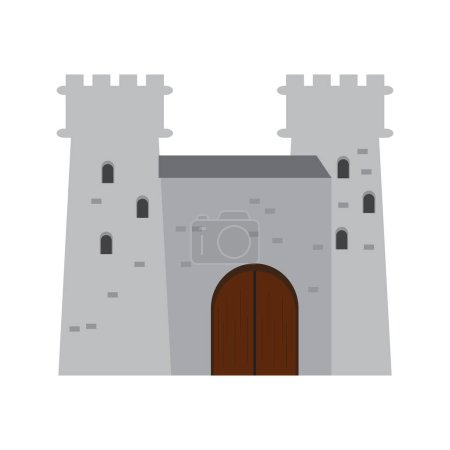 Isolated medieval castle icon. Vector illustration...