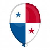 A balloon shaped flag of Panama