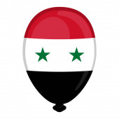A balloon shaped flag of Syria