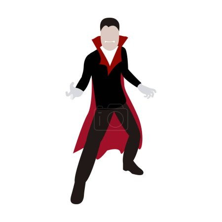 Photo for Halloween vampire costume. Men halloween costume - Vector - Royalty Free Image