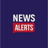 News alerts banner breaking news headline template tv background design element vector illustration