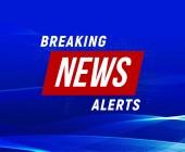 News alerts banner blue background breaking news banner tv design element report online vector illustration