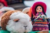 Crafts of Andean guinea pig and doll - Cajamarca Peru