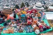 Andean craft stall - Cajamarca Peru