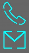 Call icon and mail icon vector design Couple of icons united by one topic