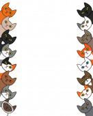 Various ute cats peek over the edge Card border frame