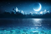 Romantic Moon On Sea In Magic Night