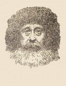 Badajoz, Spain - Jan 7th, 2019: Portrait of Robert Peary, artic explorer. Draw from book Enciclopedia Autodidactica published by Dalmau Carles in 1954