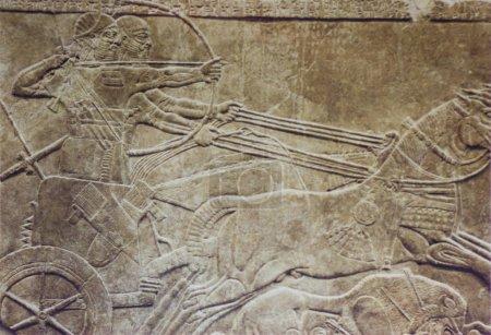 London, UK - April 14th, 2002: Ashurnasirpal hunti...