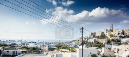 scenic view of residential district of Santorini