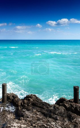 Photo for Seascape from coastline at Crete, Greece, Europe - Royalty Free Image