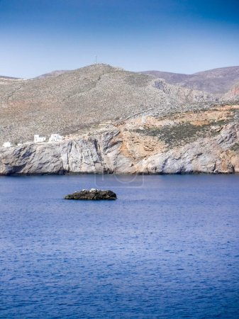 Photo for Scenic view of sea and mountain at Milos Island, Greece - Royalty Free Image