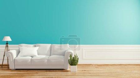 Photo pour Design intérieur de la salle des Monnaies .3D rendering - image libre de droit