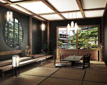 maquette, japonais chambre vide tatami mat Concevoir le plus beau