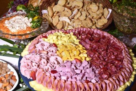 Photo pour Luxe, réception de mariage élégant tableau arrangement, pièce florale.. - image libre de droit