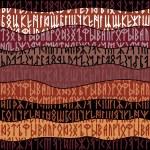 Runes seamless pattern. Runic alphabet wallpaper. ...