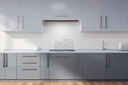 Minimalistic kitchen interior with white