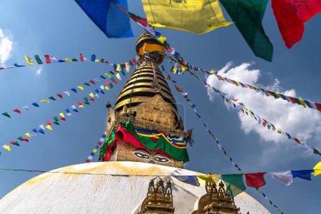Swayambhu Maha Chaitya stupa, Katmandou, Népal .