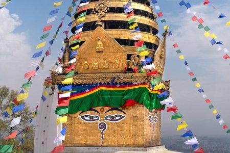 Swayambhu Maha Chaitya stupa, Katmandú, Nepal .