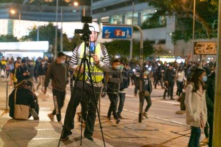 Photo pour Le rassemblement populaire pour défendre leurs libertés et leurs droits - image libre de droit